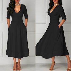 Dresses - 💥 Black Cute Maxi Dress